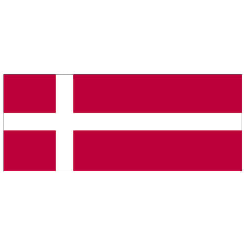 Denmark Flag PVC Party Sign Decoration 60cm x 24cm