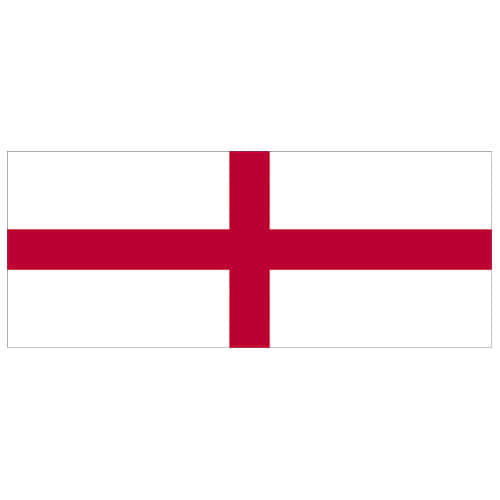 England Red Cross Flag PVC Party Sign Decoration 60cm x 24cm