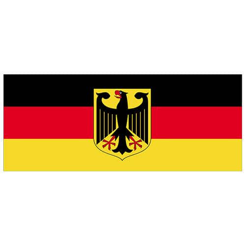 Germany Flag PVC Party Sign Decoration 60cm x 24cm