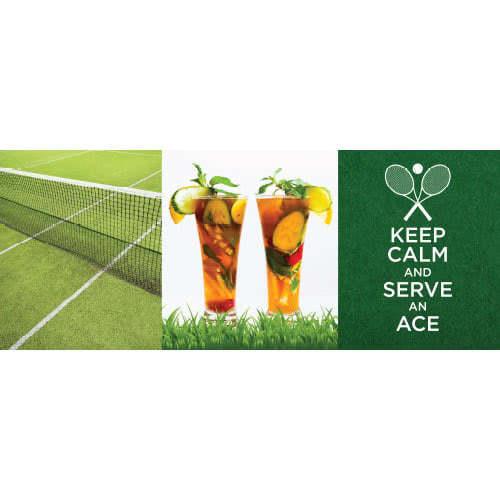 Wimbledon Tennis Keep Calm PVC Party Sign Decoration 60cm x 24cm