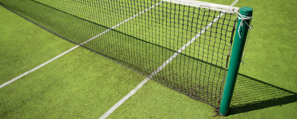 Tennis Court Net Design Small Personalised Banner - 4ft x 2ft