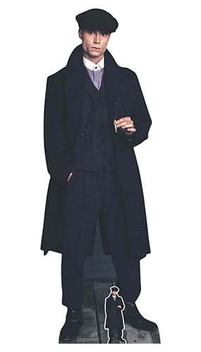 1920s Peaky Blinders Style Gangster Smoking Lifesize Cardboard Cutout 185cm Product Gallery Image