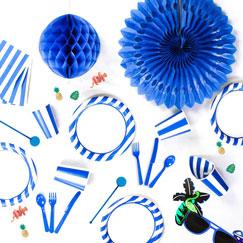 Blue and White Stripes Theme