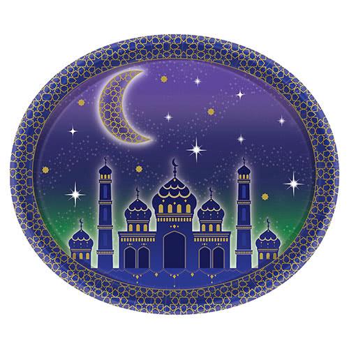 Eid Oval Serving Paper Platter 30cm