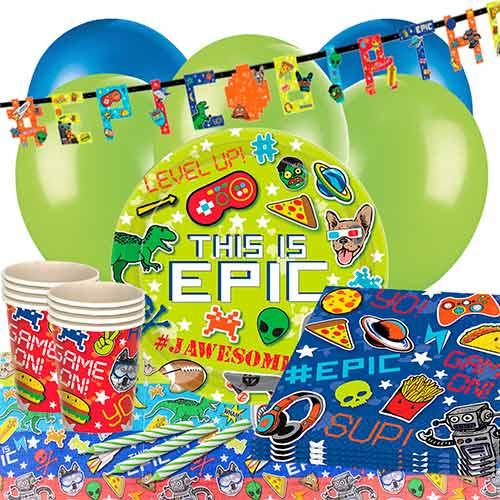 Epic Theme Party 16 Person Deluxe Party Pack