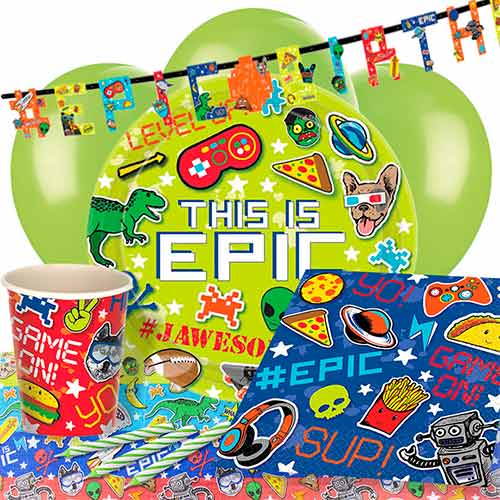 Epic Theme Party 8 Person Deluxe Party Pack