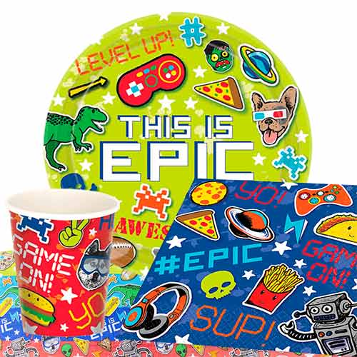 Epic Theme Party 8 Person Value Party Pack