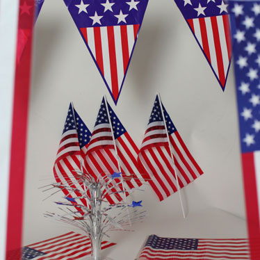 USA Flags and Bunting