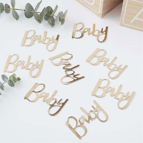 Oh Baby Gold Foiled Table Confetti 14 Grams