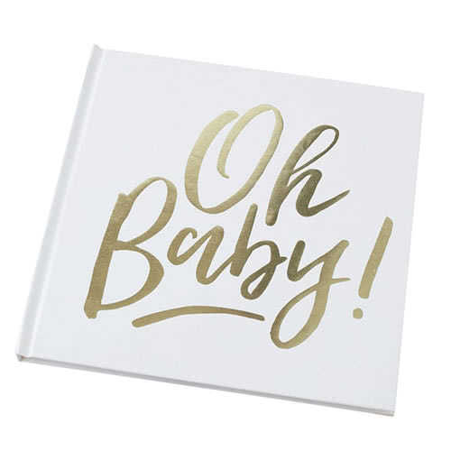 Oh Baby Gold Foiled Guest Book Product Gallery Image