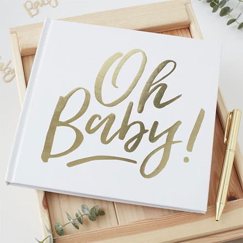 Oh Baby Gold Foiled Guest Book