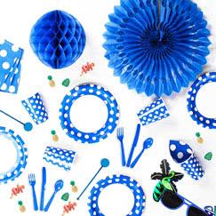 Blue Decorative Dots Tableware