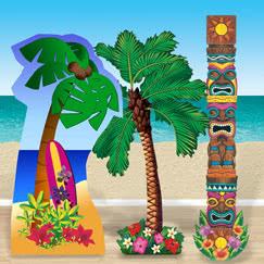 Hawaiian Cardboard Cutouts