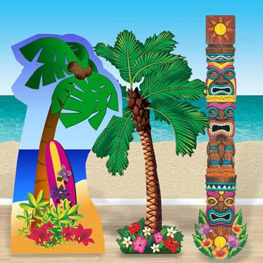 Hawaiian Life Size Cardboard Cutouts