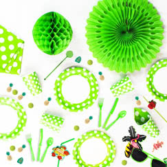 Lime Green Decorative Dots Tableware