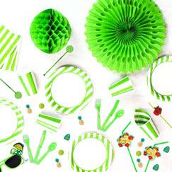 Green and White Stripes Theme