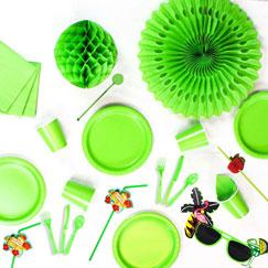Lime Green plain tableware