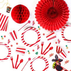 Red And White Stripes Theme