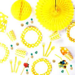 Yellow Decorative Dots Tableware