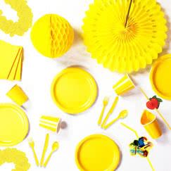Yellow plain tableware