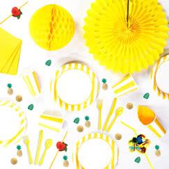 Yellow And White Stripes Theme