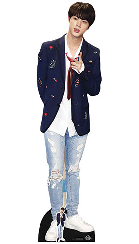 Kim Seok-jin Jin Lifesize Cardboard Cutout 179cm Product Gallery Image