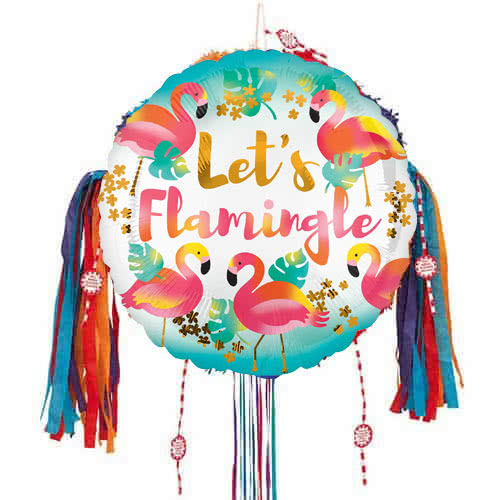 Lets Flamingle Pull String Pinata