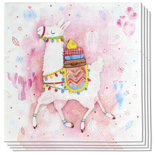Llama Premium Luncheon Napkins 3Ply 33cm - Pack of 20 Product Image