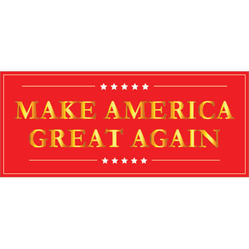 Make America Great Again PVC Party Sign Decoration 60cm x 25cm