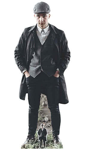 Peaky Blinders Style British Gangster Flat Cap Lifesize Cardboard Cutout 182cm Product Gallery Image