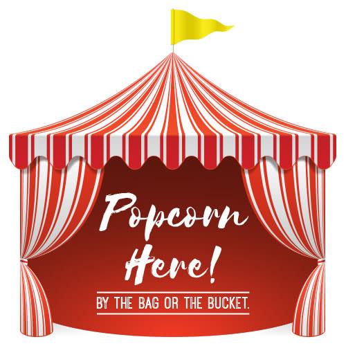 Popcorn Circus Tent PVC Party Sign Decoration 25cm x 25cm
