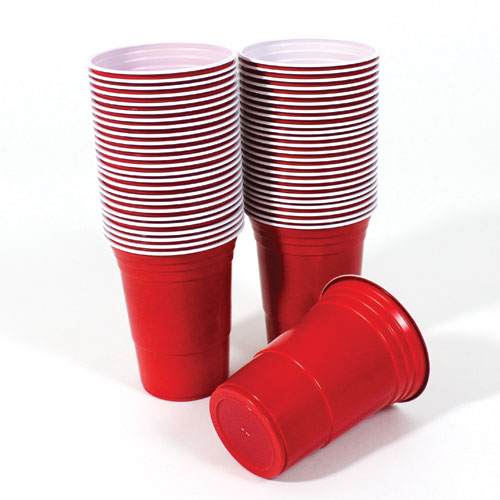 Red American Plastic Party Cups 450ml / 16oz – Pack of 50