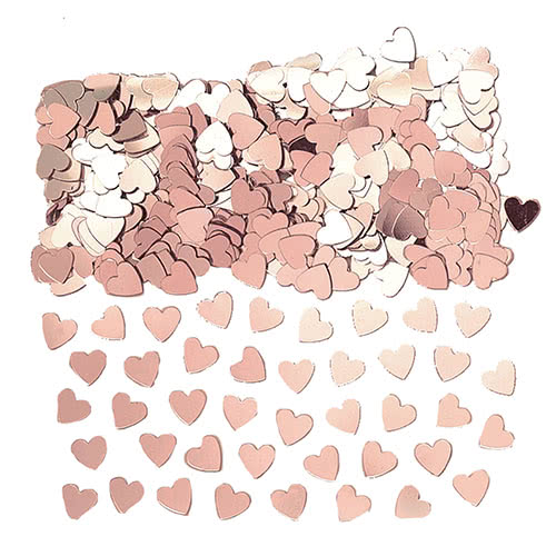 Rose Gold Small Hearts Table Confetti 14 Grams