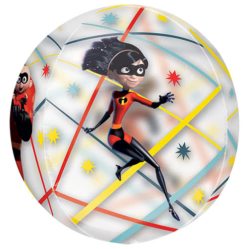 Incredibles 2 Orbz Foil Helium Balloon 38cm / 15Inch Product Gallery Image