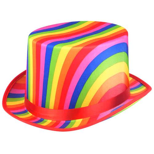 Adult Rainbow Pride Topper Hat