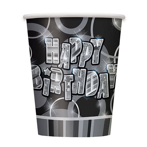 Black Glitz Paper Cup 270ml Product Gallery Image