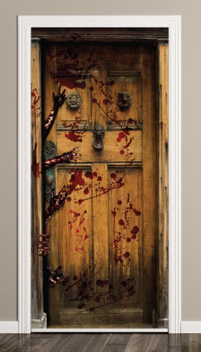 Bloody Halloween Door Cover PVC Party Sign Decoration 66cm x 152cm