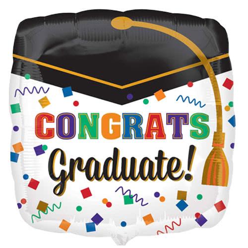 congrats-graduate-square-foil-helium-balloon-43cm-17inch-product-image