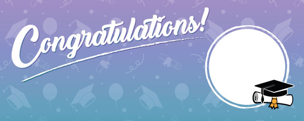 Congratulations Graduation Pastel Colours Design Small Personalised Banner - 4ft x 2ft