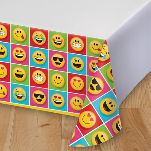 Emoji Designs Plastic Tablecover 259cm x 137cm