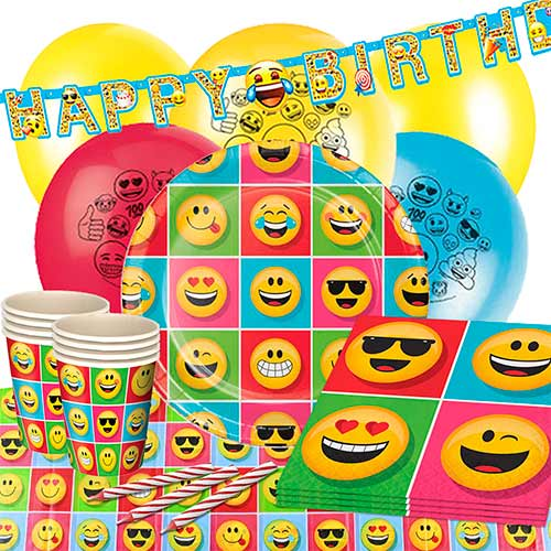 Emoji 16 Person Deluxe Party Pack