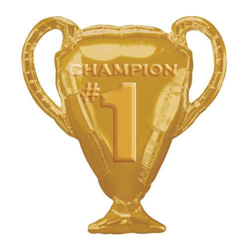 Gold Champion Trophy Supershape Helium Foil Balloon 71cm / 28Inch
