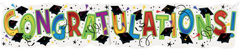 Graduation Congratulations Giant Cardboard Banner 132cm