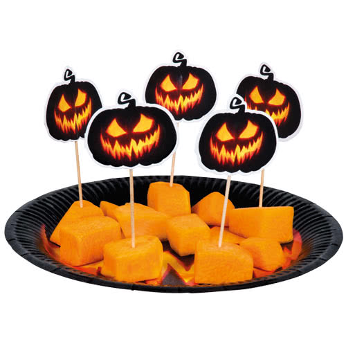 halloween-creepy-pumpkin-paper-cocktail-picks-12cm-pack-of-6-product-image
