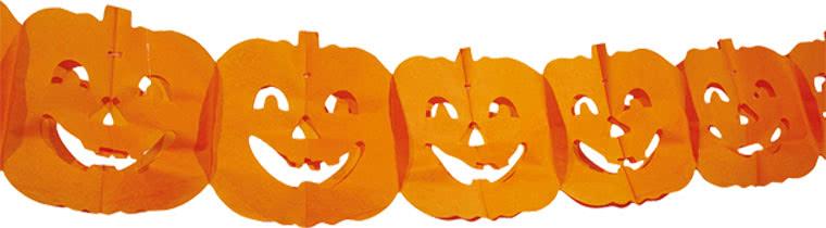 Halloween Pumpkin Paper Garland Decoration 4m