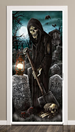 Haunted House Halloween Door Poster Decoration 165cm Product Image
