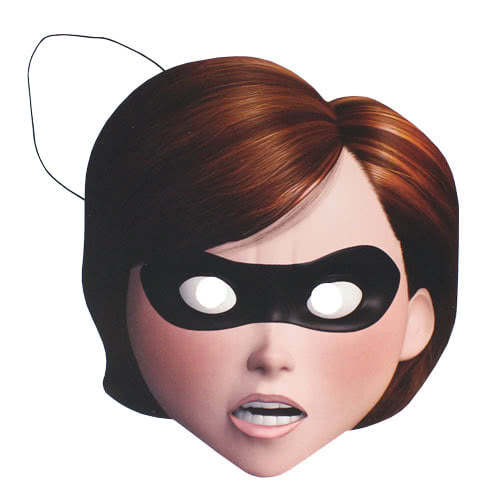 Incredibles 2 Mrs Incredible Cardboard Face Mask