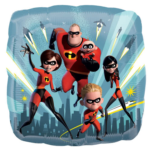 Incredibles 2 Square Foil Helium Balloon 43cm / 17Inch