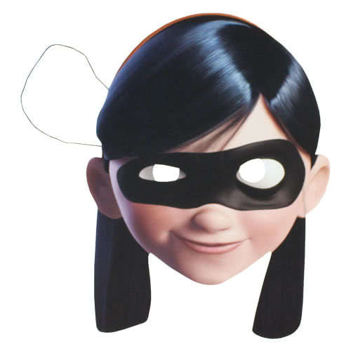 Incredibles 2 Violet Cardboard Face Mask