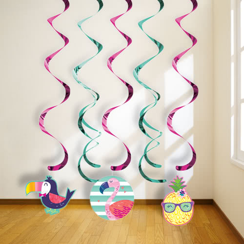 Pineapple And Friends Dizzy Danglers Swirl Hanging Decorations - Pack of 5